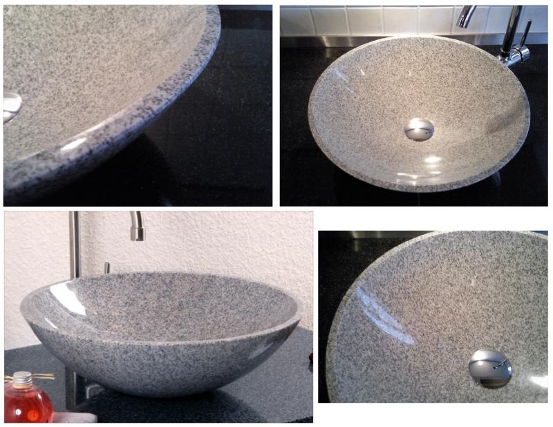 Granitbecken grau alpgranit hochwertige esstische und for Hochwertige esstische