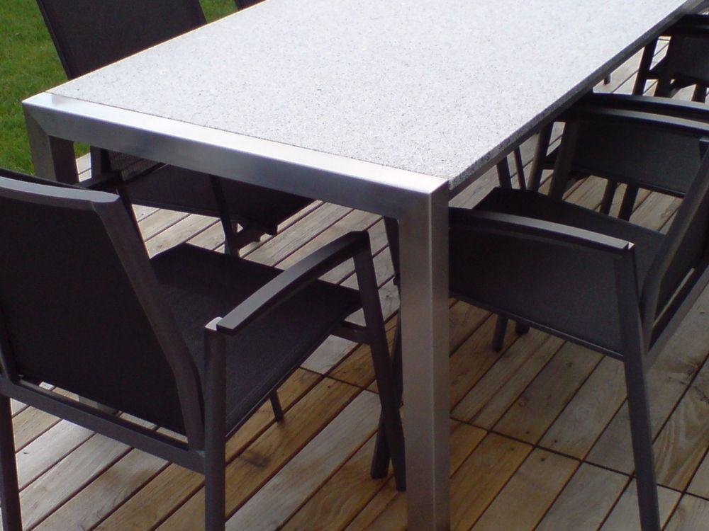 Modern set 1 alpgranit hochwertige esstische und for Hochwertige esstische