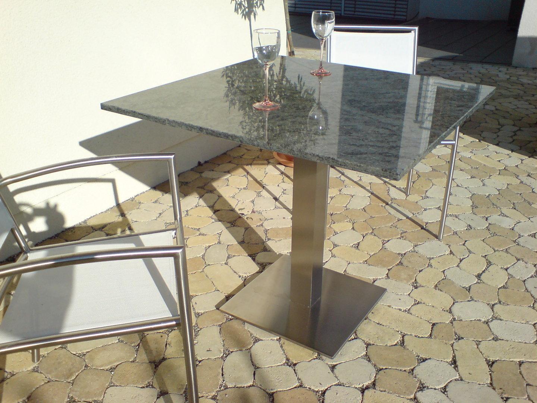 Piana Granit Gartentisch Alpgranit